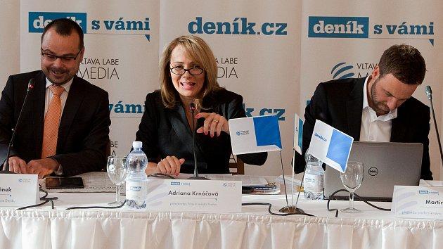 Deník s vámi - Setkání s primátorkou Adrianou Krnáčovou v rezidenci primátora.
