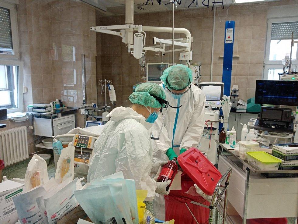 Reportér Pražského deníku navštívil JIP ve Fakultní nemocnici Královské Vinohrady (FNKV), kde se léčí pacienti s covidem.