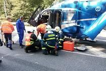 Za 24 hasiči zasahovali u pěti událostí - dvě z nich byly dopravní nehody.