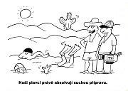 Výstava kresleného humoru na téma sucho - Radek Stestka.