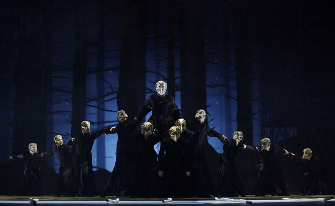 Generální zkouška baletu Čarodějův učeň v Národním divadle.
