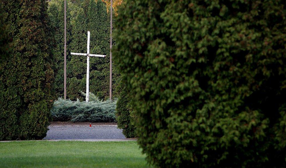 Ďáblický hřbitov, pietní místo.