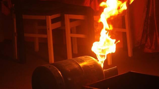 Požár plynu.