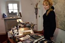 Bývalá první dáma Dagmar Havlová představila v Praze projekt virtuálních prohlídek kanceláře, kde po svém odchodu z prezidentské funkce trávil čas český státník a dramatik Václav Havel.