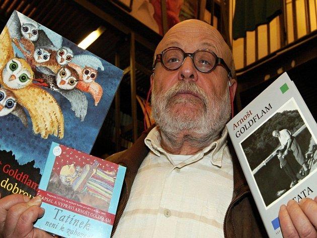 Arnošt Goldflam a jeho nová kniha, 10. ledna 2013