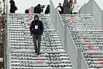 Olympijský park na Letné je pod sněhem,slavnostní otevřené je plánováno na 6.února. Letná 28.ledna.