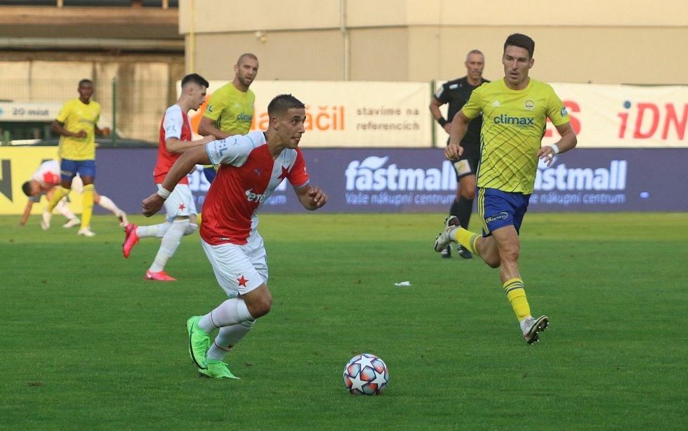 Fotbalisté Slavie odehráli úvodní utkání nové sezony na hřišti Zlína.