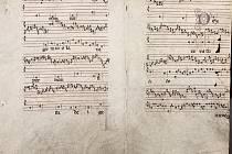 Hudební kodex z 15. století.