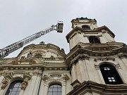 Nácvik evakuace v Městské zvonici Sv. Mikuláše v Praze