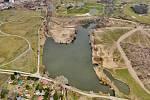 Rybník Martiňák po další fázi rekonstrukce.
