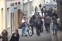 Krádež kola v Thámově ulici.