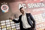 Nový trenér fotbalistů Sparty Andrea Stramaccioni vystoupil na tiskové konferenci 20. června v Praze.