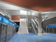 Návrh podoby stanice metra trasy D - Depo Písnice.