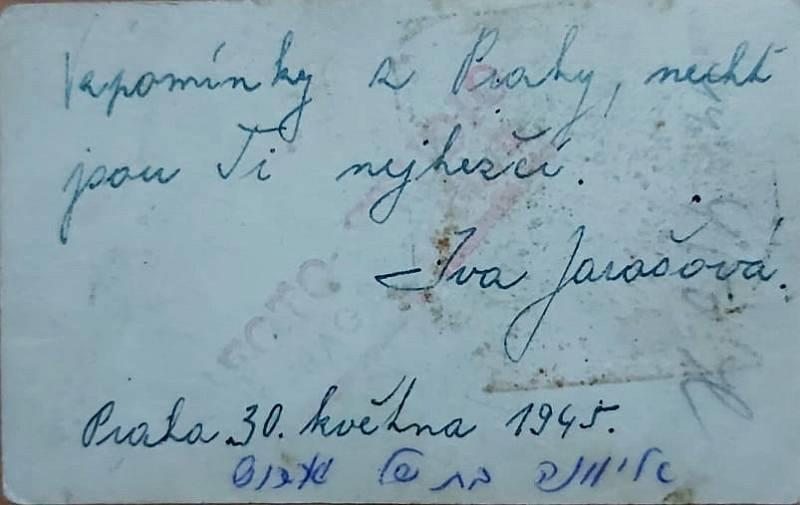 Vzpomínky Ivy Jarošové.
