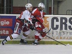 Čtvrtfinále play off první hokejové ligy - 2. zápas: Slavia Praha - Prostějov 5:1 (2:1, 1:0, 2:0).
