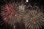 Novoroční ohňostroj. Ilustrační foto.
