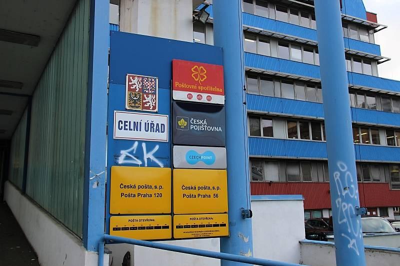 Celní pošta v Praze 5.