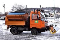 Sněžení v Praze.