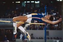 Italka Sara Simeoniová ve skoku vysokém ve kterém vyrovnala vlastní světový rekord 201 cm.