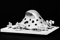 VÍTĚZNÝ NÁVRH. Projekt architekta Jana Kaplického vyvolal četné protichůdné reakce a získal i řadu přezdívek.Má mnoho stoupenců, ale i odpůrců, kteří si jen těžko dokáží představit, že tato stavba zaujme místo na letenské pláni.