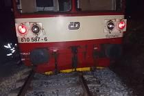 Vykolejení vlaku u Vraného.