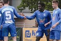 Fotbalisté Slavoje Vyšehrad mají důvod k radosti, v příští sezoně budou hrát v ČFL.