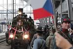 Rekonstrukce slavného návratu T.G.Masaryka z exilu vlakem.