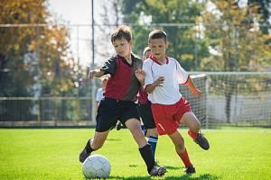 Malí fotbalisté. Ilustrační foto.