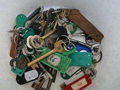 Nalezené klíče. Ilustrační foto.