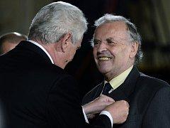 Miloš Zeman a Karel Srp starší. Ilustrační foto.