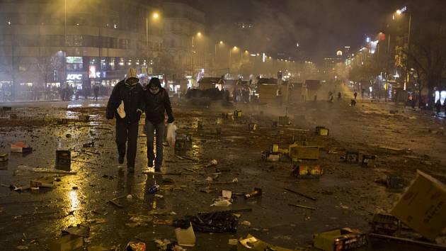 Takhle to vypadalo po půlnoci v centru metropole.