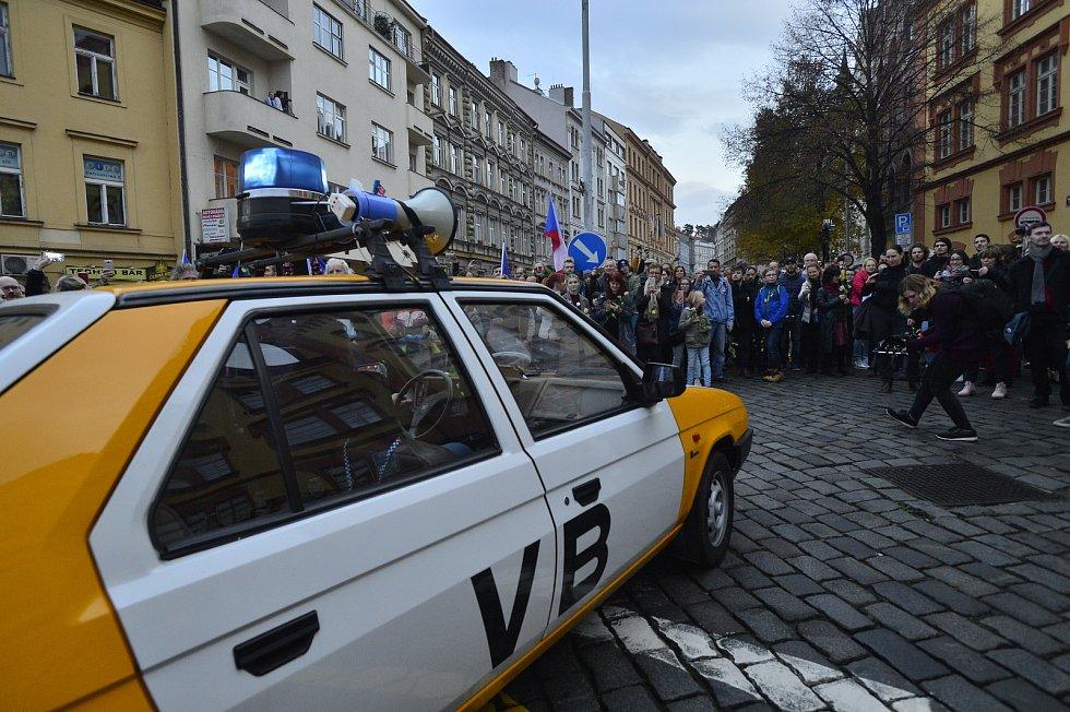 Připomínka událostí 17. listopadu v Praze. Albertov a pochod z něj. 17. listopad 2019