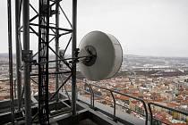 České radiokomunikace uspořádaly 16. února v rámci 20. výročí otevření Žižkovského vysílače v Praze prohlídku pro novináře.