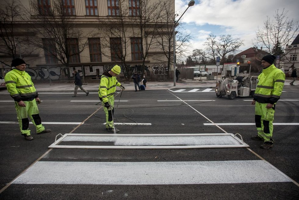 Poslední kontrolní den na stavbě v Korunovační ulici.