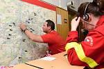 Cvičení záchranářů Pražská 155