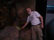Petr Velenský jako kurátor spravuje v pražské zoo úsek plazů, obojživelníků, ryb a bezobratlých.
