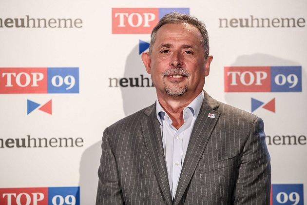 TOP 09představila 30.května vPraze svoji volební kampaň do podzimních voleb. Na snímku Václav Horáček - Liberecký kraj