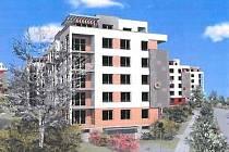 Vizualizace: výstavba bytů v Komořanech.