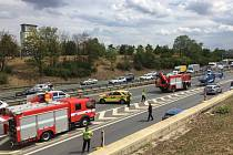 U nehody kamionu na 0. kilometru D1 ve směru na Brno zasahovaly všechny složky IZS.