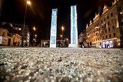 Generální zkouška Signal festivalu probíhala v centru Prahy 11. října. Na snímku Glass na náměstí Republiky.