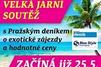 Velká jarní soutěž s Pražským deníkem o exotické zájezdy a hodnotné ceny.