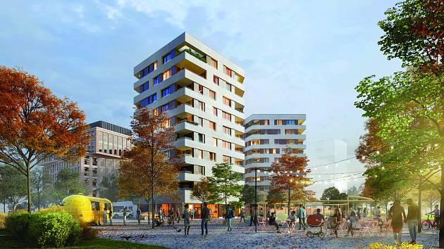 Jak by mohla vypadat nová čtvrť Rohan City.