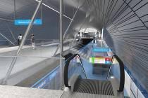 Vizualizace linky metra D.