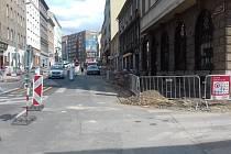 Rekonstrukce Koněvovy ulice na pražském Žižkově.