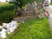 Havárie traktoru. Ilustrační foto.