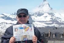 Nymburský deník se dostal až pod Matterhorn. Může za to Milan Čejka z Libice nad Cidlinou.