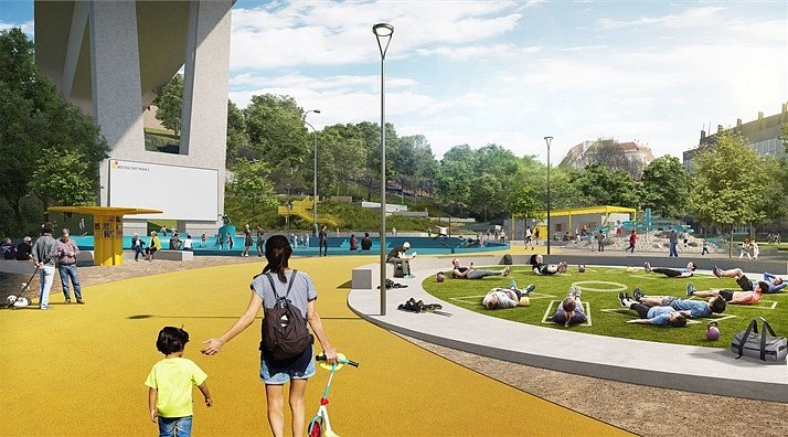 Vizualizace nové podoby parku Folimanka.