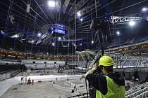 Přestavba O2 areny pro soutěž v parkuru.