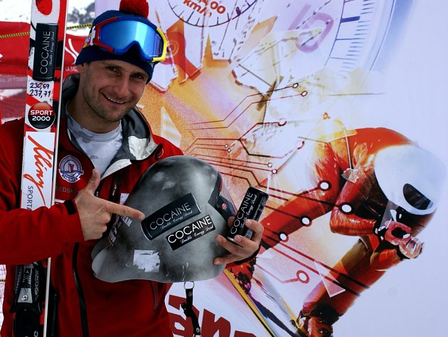 Radek Čermák, rekordman vrychlostním lyžování.