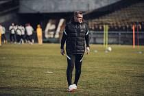 Trenér Pavel Vrba poprvé vedl trénink Sparty Praha.